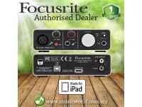 Focusrite iTrack Solo USB 2.0 Audio Interface Mac PC Ipad IOS device Interface