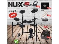 Nux DM-5 Digital Drum Set Professional Bundle Electric Drum With Amp (DM5)