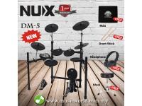 Nux DM-5 Digital Drum Kit With Headphone Professional Electric Drum Set (DM5)
