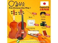 ZTA Violin 4/4 Full Size Violin Beginner Violin Bundle with Case Tuner String Bow Rosin Mute