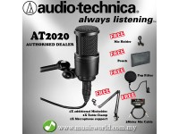 Audio-Technica AT2020 Cardioid Condenser Microphone Full Bundle (AT 2020)