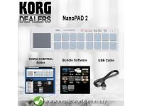 Korg nanoPAD 2 Midi USB Controller White With Software Slim Line  (Nano Pad NanoPad2)