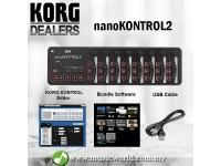 Korg nanoKONTROL2 USB Slim Line MIDI Controller Nano Kontrol 2 (Black)