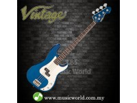 VINTAGE V4 Reissued Bass Guitar Basses Bayview Blue By Wilkinson