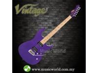 VINTAGE V6M24 REISSUED SERIES ELECTRIC GUITAR PURPLE