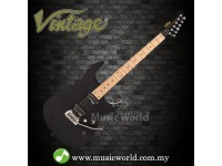 VINTAGE V6M24 REISSUED ELECTRIC GUITAR BOULEVARD BLACK