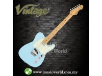 VINTAGE V75 REISSUED ELECTRIC GUITAR LAGUNA BLUE
