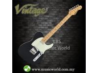 VINTAGE V75 REISSUED ELECTRIC GUITAR GLOSS BLACK