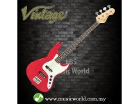 VINTAGE VJ74 REISSUED BASS GUITAR CANDY APPLE RED