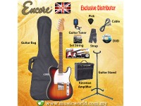 ENCORE E2 ELECTRIC GUITAR PACK BUNDLE STARTER PACK SUNBURST