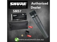Shure SM57 Dynamic Instrument Microphone Mic Clamp and Pouch Cardioid Pickup Pattern