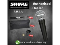 Shure SM58 Handheld Dynamic Vocal Microphone Mic Clamp Cable tie and Pouch