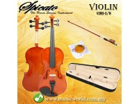 Spicato Italy Violin V101 One Eighth Size 1/8 Violin With Carry Bag Bow Rosin