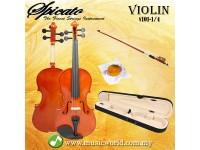 Spicato Italy Violin V101 Quarter Size 1/4 Violin With Carry Bag Bow Rosin