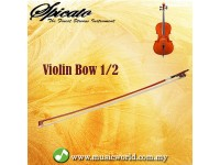 Spicato Italy Violin Bow Full Size 1/2 Bow Horsehair Brazilwood