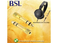 BSL Audio Headphone Multi Jack 6.5mm to 3.5mm Digital Piano Headphone Connector