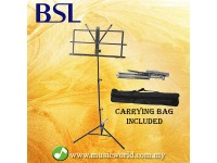 BSL Music Stand Foldable Heavy Duty Stand With Carrying Bag
