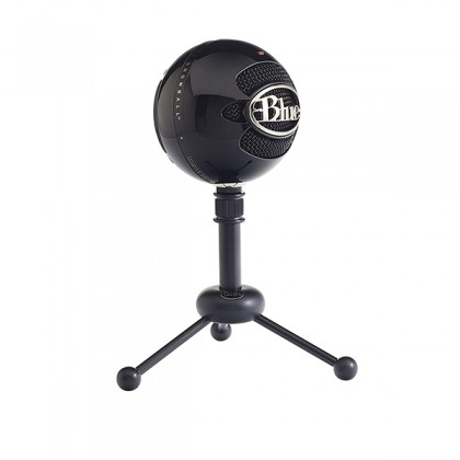 Blue Microphones Snowball USB Microphone Mic With Stand and Cable (Gloss Black)