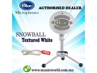 Blue Microphones Snowball USB Microphone Mic With Stand and Cable (Textured White)