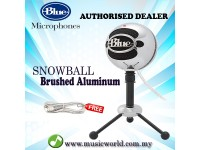 Blue Microphones Snowball USB Microphone Mic With Stand and Cable (Brushed Aluminum)