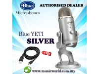 Blue Microphones Yeti USB Microphone with Cable Professional Recording (Silver)