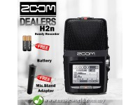 Zoom H2n Handy Recorder Field Recorder and MA-2 Mic Stand Adapter (H-2n)
