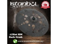 "Istanbul Agop 17"" Inch Xist ION Dark Crash Hand Hammered Cymbal"