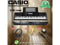 Casio CTK-7200 61 Key Portable Keyboard With Adapter (CTK7200 / CTK 7200)