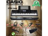 Casio CTK-7200 61 Key Portable Keyboard Complete Package (CTK7200 / CTK 7200)