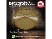 """Istanbul Agop Cymbal 22"""" Sterling Crash-Ride Cymbal"""