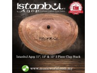 Istanbul Agop Cymbal 11, 13 & 15 Inch 3 Piece Clap Stack Cymbal