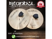 """Istanbul Agop Cymbal 18 Inch Xist Orchestral Pair 18"""" Cymbal"""