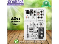 Yamaha AG03 3 Channel Mixer Multipurpose with USB audio interface