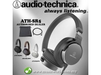 AUDIO TECHNICA - ATH-SR5 BK Black On-Ear High-Resolution Headphone (SR5BK)