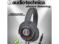 AUDIO TECHNICA - ATH-WS770iS BDR Black Red Solid Bass Over-Ear Headphones (WS770iS)