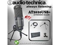 Audio Technica AT2020USB+ Cardioid Condenser USB Microphone (AT2020 USB)