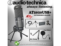 Audio Technica AT2020USB+ Cardioid Condenser USB Microphone Complete (AT2020 USB)