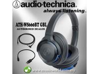 AUDIO TECHNICA - ATH-WS660BT GBL Solid Bass Wireless Over-Ear Headphone (WS660BT)