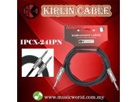 Kirlin Cable IPCX-241PN /BK 6 Meter Mono Plug Instrument Electric Guitar Amp Keyboard Bass Amplifier Drum Cable Black