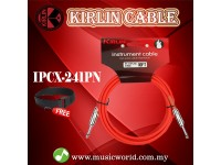 Kirlin Cable IPCX-241PN /RD 6 Meter Mono Plug Instrument Electric Guitar Amp Keyboard Bass Amplifier Drum Cable Red