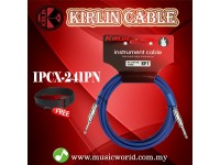 Kirlin Cable IPCX-241PN /BL 3 Meter Mono Plug Instrument Electric Guitar Amp Keyboard Bass Amplifier Drum Cable Blue