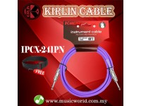 Kirlin Cable IPCX-241PN /PU 6 Meter Mono Plug Instrument Electric Guitar Amp Keyboard Bass Amplifier Drum Cable Purple