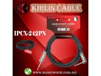 Kirlin Cable IPCX-242PN /BK 3 Meter L Mono Plug Instrument Electric Guitar Amp Keyboard Bass Amplifier Drum Cable Black