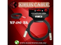 Kirlin MP-480 /BK 6 Meter Microphone Cable XLR Male to XLR Female Mic Cable