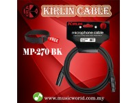 Kirlin MP-270 /BK 6 Meter Microphone Cable XLR Male to XLR Female Mic Cable