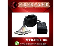 Kirlin MTB-1601 /BK 16 Channel 30 Meter Multi-track Cable XLR Male Female 16 In 16 Out Cable