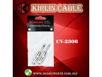 Kirlin CV-2306 1/4 Inch Straight Mono Plug Cable Contact Head Mono Jack Pairs