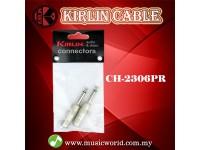 Kirlin CH-2306PR 1/4 Inch Straight Mono Plug Cable Contact Head Mono Jack Pairs