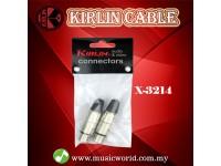 Kirlin X-3214 XLR Female Mic Microphone Connector Pair