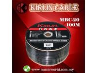 Kirlin MBC-20 100 Meter Microphone Mic Cable Bulk Black